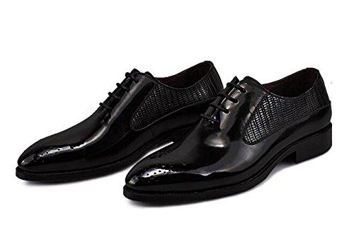 Happyshop (tm) Nouveau Cuir Véritable Couleur De La Brosse Jusquà Oxford Formelle Robe Chaussures Hommes Chaussures Daffaires Noir