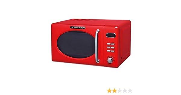 Schneider MW720 fr Microondas, color rojo: Amazon.es: Grandes ...