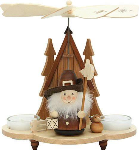 (1-tier German Christmas Pyramid - Nightwatchman natural - 19,5cm / 8 inch - Christian Ulbricht )
