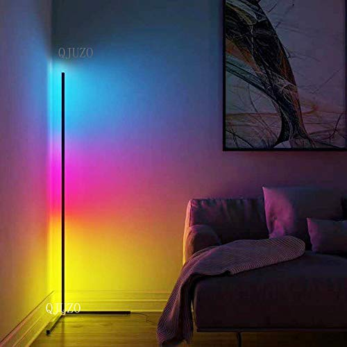 XMAGG Led-vloerlamp, dimbaar, met afstandsbediening, 20 W, voor woonkamer, slaapkamer, kleurverandering, lichtbundel RGB…