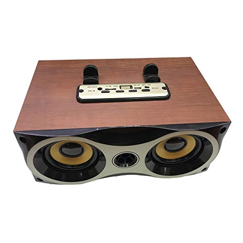 Oddalsail Xm-6 Series Wooden Speakers Subwoofer Stereo Double Speaker Retro Red