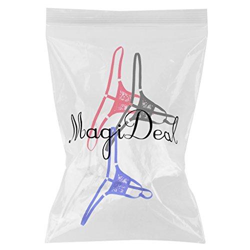 MagiDeal 4pz Traspirante G-string Biancheria Intima Sacchetto Breve Perizoma Slip Mutande per Uomo