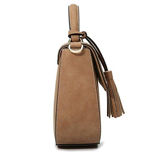 avec amovible Kaki à mignon Kaki Sac main à en main Women Kadell Sac sac à bandoulière cuir wpnfqBwvAF