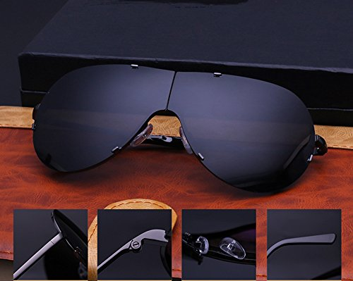 Glasses Frame Sun Polarized Grey Sunglasses Fashion Eyewear Lens Special Driving Street Coolest black Silver Protection Men Sunglasses Sunglasses UV 5CZgFnwEg
