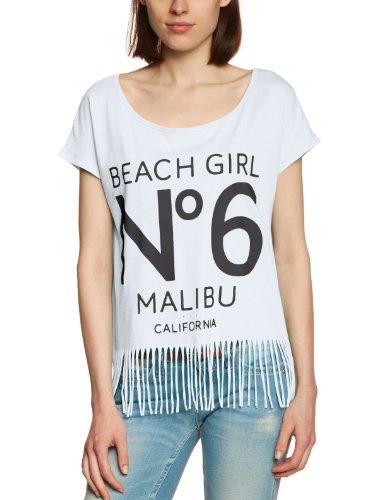 Only - Camiseta de Fringe de manga corta para mujer 0 006