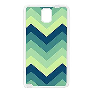 Green Blue Chevron Pattern White Silicon Rubber Case for Galaxy Note 3 by UltraCases + FREE Crystal Clear Screen Protector