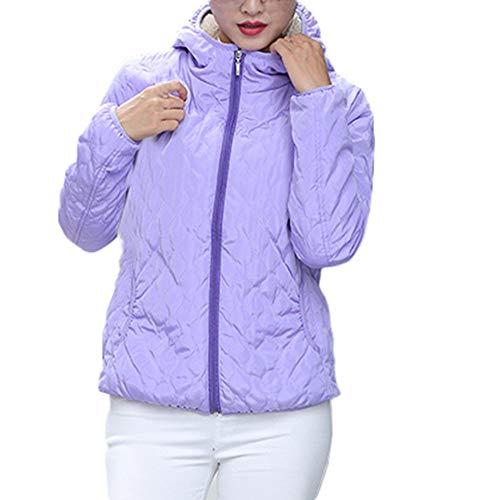 Slim Invierno Winter jiameng Mujer Chaqueta Capucha Abrigo Para De Cálido Largos Abrigos Parka Mujer Con Púrpura 5wS4xRzq