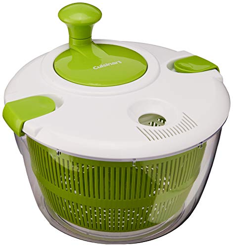 - Cuisinart CTG-00-SAS Salad Spinner, Green and White