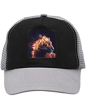 Unisex Fire Tiger Adjustable Classic Hiphop Hat Baseball Cap Snapback Dad Hat