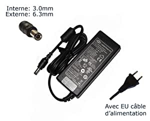 "Laptop-Power-Adaptador de corriente para Toshiba Satellite U205-S5044 U205-S5057 U205-S5058 U205-S5067 U205-s5068-Power-Ordenador portátil (TM) ""marca () con enchufe europeo"