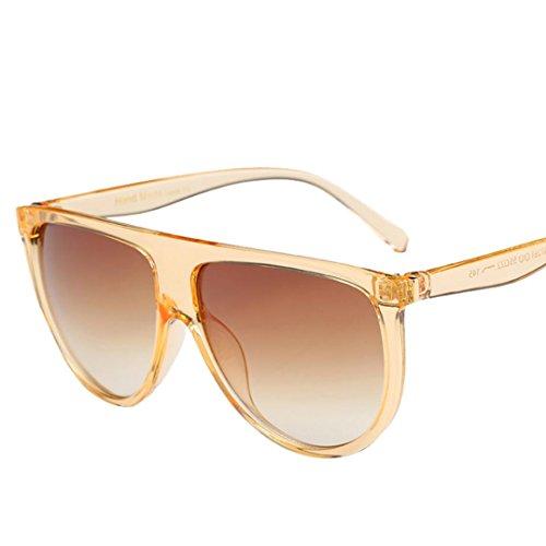 OverDose, Unisex Lunettes De Soleil Yeux De Chat à Verres Plats Et Monture CarréE Aviator Mirror Lens Sunglasses (A)