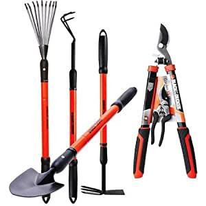Black decker garden tool set set of 6 for Gardening tools on amazon