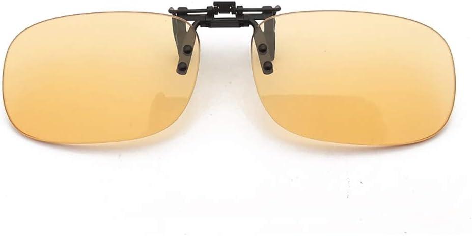 Lentes de la luz azul anti-clip de la miopía de los vidrios de los anteojos Asistente contra la radiación del protector de ojos (Size : Square)
