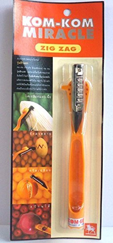 Kom-kom Miracle Zig Zag Knife for Fruit Carving Peeler Papaya,vegetable,slicer.