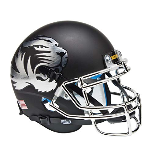 (Schutt NCAA Missouri Tigers Mini Authentic XP Football Helmet, Chrome Alt.)