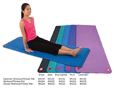 """EcoWise Deluxe Workout / Fitness Mat, 5/8""""x23""""x72"""" - Blue Dahlia"""
