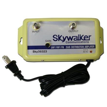 Vhf Antenna Booster - Skywalker Signature Series SKY38323 25dB Amplifier VHF/UHF/FM w/variable gain (SKY38323)