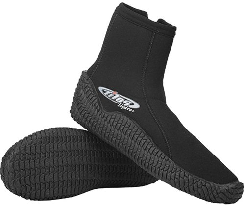 Tilos 5mm Titanium Hydro+ Zip Booties for Scuba Diving and water sports