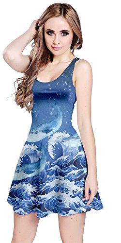 Meduse Pesce Delfino Turchese Xs 5xl La Animali Marini Polpo Tartarughe Womens Sotto Luna Balena Abito Di Senza Cowcow Balene Maniche qw8YxOFfn0