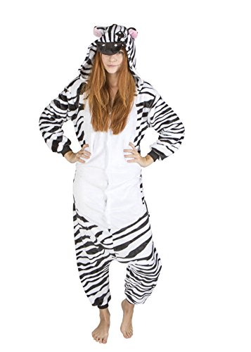 Adults and Teens Zebra Halloween and Christmas Costume for Women and Men (5'2
