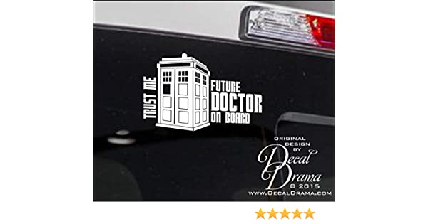 """Dr Who Baby Timelord on Board White Vinyl 7/"""" Tall"""