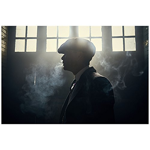 Cillian Murphy 8 Inch x 10 Inch Photograph Peaky Blinders (TV Series 2013 -) Silhouette Exhaling Smoke w/Bright Light Coming Through Windows kn