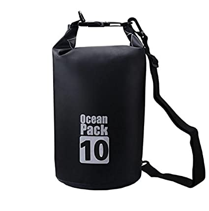 8f9723d8e7 GETKO WITH DEVICE 10 LTRs Tarpaulin PVC Waterproof Dry Bag (Multi-color)   Amazon.in  Bags