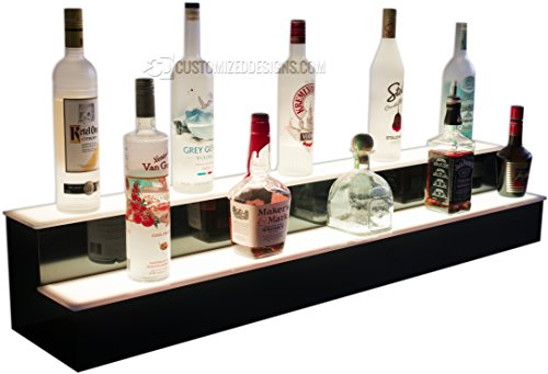 84'' 2 Step Commercial Grade LED Lighted Bottle Display - Remote Control LED Lighting by Customized Designs