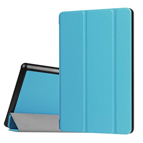 Price comparison product image TOOPOOT Flip Leather Stand Case for Amazon Kindle Fire HD 8 Inch Tablet (light blue)