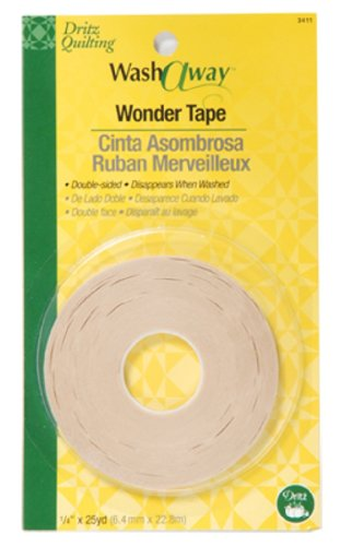 Dritz Quilting Washaway Wonder Tape, 1/4 by 25-Yard