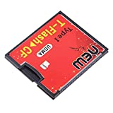 Red & Black T-Flash to CF type1 Compact Flash Memory Card UDMA Adapter Up to 64GB