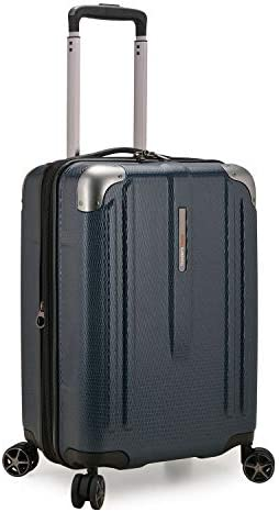 Traveler s Choice New London II Hardside Expandable Spinner Luggage, Navy, Carry-on 22-Inch