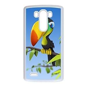 LG G3 Cell Phone Case White Funny Cartoon Animals OJ540717
