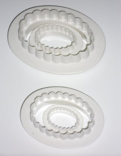 Oval Plunger Cutter, Set of 4