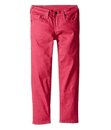 True Religion Kids Baby Girl's Casey Overdye Single End Jeans in Fuchsia (Toddler/Little Kids) Fuchsia Jeans