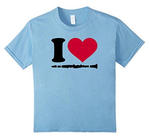 Kids I love clarinet T-Shirt 10 Baby Blue