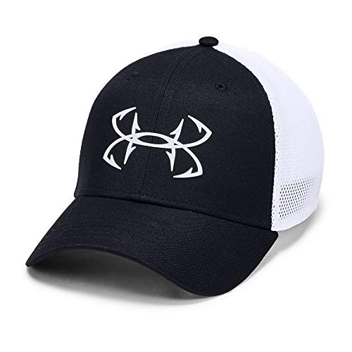 Under Armour Fish Hook 2.0 Hunter Cap ( Black (001)/White, Small/Medium)