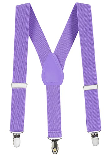 Suspenders for Kids Boys and Baby - Premium 1 Inch Suspender Perfect (Lavender Tuxedo)