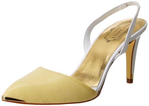 Ted Baker Women's Caareen Dress Pump,Yellow/White,7.5 M (Yellow Nappa Footwear)