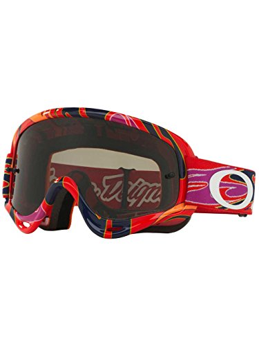 Oakley XS O Frame MX TLD Collection Adult Off-Road Motorcycle Goggles Eyewear - Reflection Orange Purple/Dark Grey / One Size Fits - Sunglasses Oakley Customized