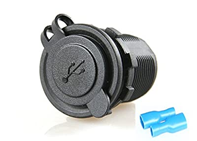 BANDC PJH-RS-0123 Power Outlet Dual USB Charger Socket 2.1A 1A for iPad iPhone Car Boat Marine Mobile