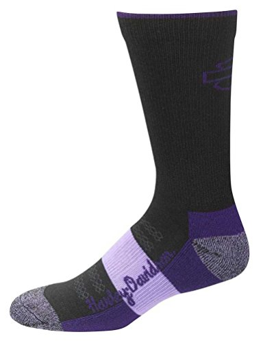 Harley-Davidson Women's Ultra Cushion Wool Socks, Black D89210470-500