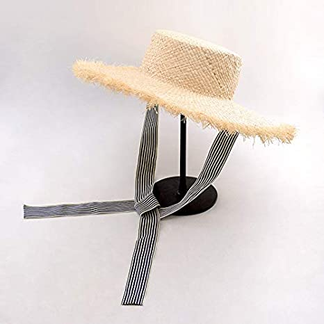 20c8d03bb8ea5 Amazon.com   ALWLj Hats with Ribbon Tie Raffia Straw Summer Sun Hat ...
