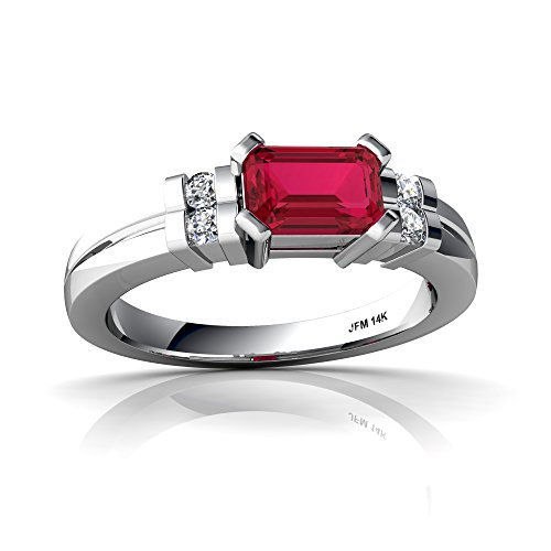 art deco ruby ring - 9