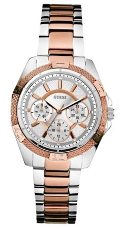 GUESS Women's Mini Phantom Chronograph Dial Watch Silver