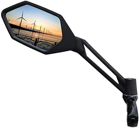 MEACHOW LUX E-Bikespiegel Fahrrad Spiegel blaues Sicherheitsglas Antireflexbesch