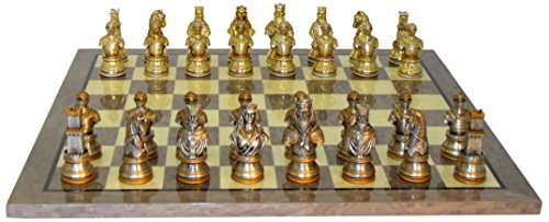WorldWise Imports Camelot Pewter Grey Briar Chess Set