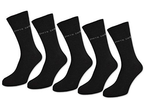 10 Paar Pierre Cardin Socken Herrensocken Baumwolle Business Socken Herren Socken Schwarz Blau Grau (39-42 | 10 Paar, Schwarz)