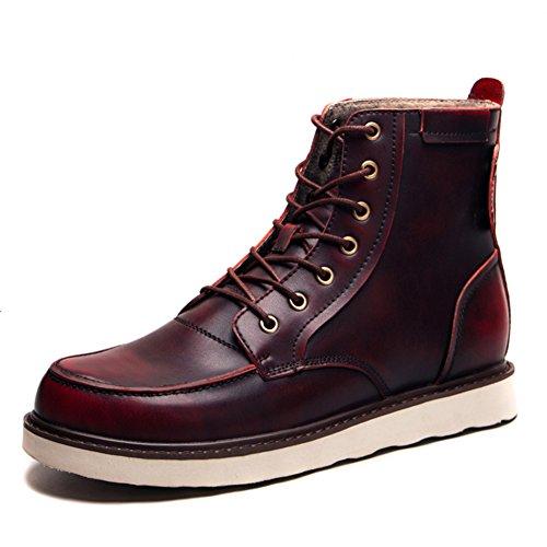 stivali alpinismo morbido 41EU slip Lunghezza piede maschile vestito casual marrone fondo nero all'aperto Rosso Scarpe autunno on w8q0tTF
