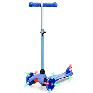 Best Choice Products Kids Mini Kick Scooter w/ Height Adjustable T-Bar (Blue)